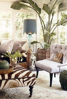 West Indies Decor Inspiration - West Indies Home offers a vast collection of truly Tropical home furnishings. You're also predicted to eat or drink something at every house you visit. by Joey New Yorker Loft, West Indies Decor, West Indies Style, British West Indies, British Colonial Decor, Tropical Home Decor, Tropical Interior, Tropical Plants, Tropical Style