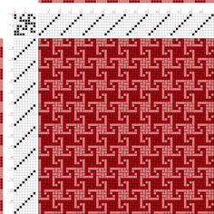 draft image: Figurierte Muster Pl. XXI Nr. 13, Die färbige Gewebemusterung, Franz Donat, 8S, 8T