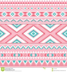 Tribal Seamless Pattern, Aztec Pink And Green Background - Download From Over 39 Million High Quality Stock Photos, Images, Vectors. Sign up for FREE today. Image: 41210396