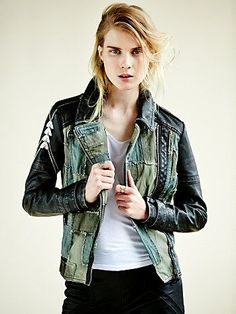 Drooling all over myself. Free People Patched Vegan Moto Jacket