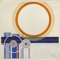 Collection Online | František Kupka. Orange Circle (Cercle orangé). 1945–46 - Guggenheim Museum