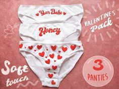 54048840ca23 Valentine's day lingerie set - 3 cute panties to steal the heart of your  love again