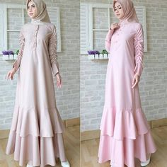 Check out trending dresses for Tesettür Modelleri 2020 Batik Fashion, Abaya Fashion, African Fashion Dresses, Fashion Outfits, Simple Long Dress, Moslem Fashion, Modele Hijab, Muslim Dress, Islamic Fashion