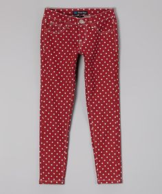 Look what I found on #zulily! Red Polka Dot Pants - Toddler by Crystal Vogue #zulilyfinds  Great for Christmas season!