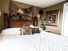 Use a queen size mattress to make a king size bed! Easy, inexpensive, and you can use your existing bed frame.