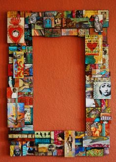 Recycle, Repurpose puzzle pieces, jewelry, used gift cards, greeting cards... endless possibilities for materials