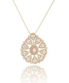 colar luxo cristal com banho de ouro semijoias online