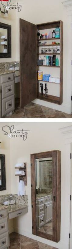 DIY: Bathroom Mirror Storage Case