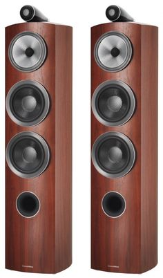 If you're looking for the same 800 series sound just in a smaller and lighter floorstanding design, then the Bowers and Wilkins 804 Diamond D3 Speakers is just for you. Rosenut.