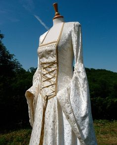 Fairytale Wedding Gown Medieval Dress Custom by vendettacouture