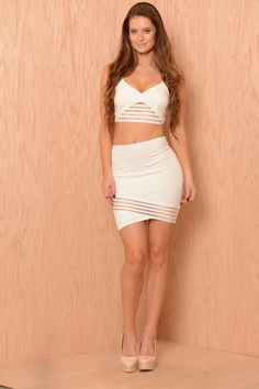 See It Through Skirt - Ivory