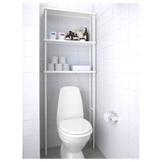 DYNAN Open storage, white, 27 Tight corners and cramped spaces – almost anything is possible with modular DYNAN series. You can build your storage vertically or horizontally and add on extra shelves to make the most of your space. Bathroom Niche, Ikea Bathroom, Bathroom Flooring, Bathroom Furniture, Bathroom Canvas, Wall Storage, Storage Spaces, Storage Ideas, Small Bathrooms
