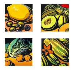 Chris Wormell illustration of Engraving, Line with Color, Woodcut, Editorial, Food, Health, Nature, Still Life, Food/Beverage, Branding