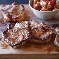 Maple-Brined Pork Chops with Pear Chutney