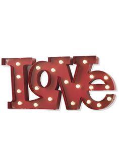 Love insegna luminosa da parete o da tavolo effetto stile industriale in metallo…