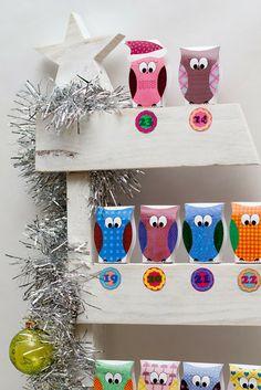 FREE Owl Printable & Advent Calendar
