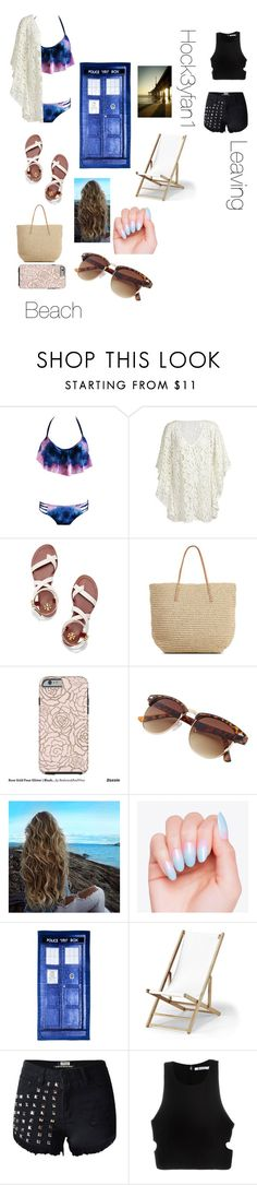 """""""Beach party tomorrow!!! Yah!!!"""" by alexandraautidiea9 on Polyvore featuring Tory Burch, Target, Telescope Casual, T By Alexander Wang and Pottery Barn"""