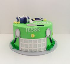 I made this tennis cake for a birthday. All hand made pieces from fondant. White cake with homemade lemon filling!