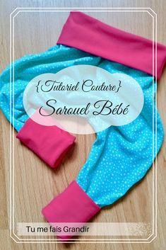 Tutoriel pour sarouel bébé. #couture #sarouel #bébé #tutoriel #diy Sewing Projects, Projects To Try, Diy Hacks, Drink Sleeves, Blog, How To Make, Kids, Handmade, Maze