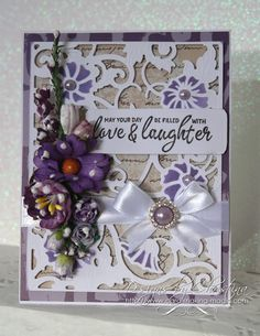 Tuesday Tutorial - Acanthus Leaf Card Front
