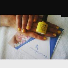 #manicure #shellac #CNDshellac #bicycleyellow