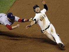Game 2 of the NLCS- Craig got him out but he was called safe- boooo    10-15-12