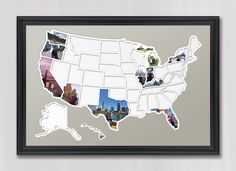 50 States Photo Map - USA by MemorableMats on Etsy https://www.etsy.com/listing/240287044/50-states-photo-map-usa