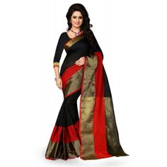 Deals and Offers on Women Clothing - Shree Sanskruti Women's Poly Cotton Saree at 42% offer
