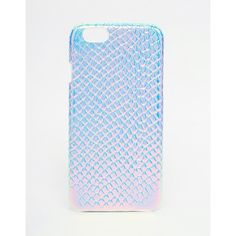 ASOS Holographic Snake iPhone 6 and 6s Case (€14) ❤ liked on Polyvore featuring accessories, tech accessories, multi and asos