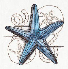 Nauticus - Starfish design (UT7941) from UrbanThreads.com
