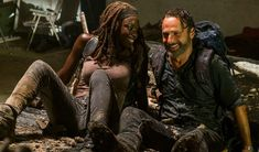 Andrew Lincoln as Rick Grimes, Danai Gurira as Michonne - The Walking Dead _ Season Episode 12 - Photo Credit: Gene Page/AMC Walking Dead Season, Walking Dead Tv Series, The Walking Dead Tv, Rick And Michonne, Rick Grimes, Judith Grimes, Big Little Lies, Shailene Woodley, Reese Witherspoon