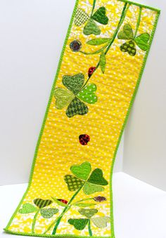 Table runner for St. Patrick's Day and Spring by moonspiritstudios