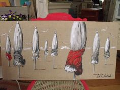 en attendant le soleil! Ciel, Painting, Inspiration, Red Umbrella, Water Colors, Art, Home Painting, Boats, Homes
