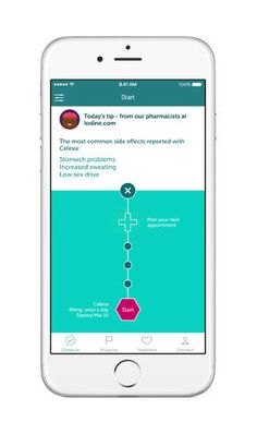 <p>Iodine's app provides information about possible medication side effects.</p>