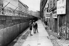 size: Photo: The Berlin Wall, Separating West Berlin and East Berlin, Five Years after Being Built, 1966 : West Berlin, Berlin Wall, Brick In The Wall, East Germany, Berlin Germany, Cold War, Framed Artwork, Street View, World