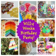 Create a birthday party based on Charlie and the Chocolate Factory by Roald Dahl! This post includes all the details, including invitations, games, activities and food!