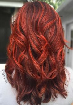 If I went bold and wanted Nicole to kill me 100 Badass Red Hair Colors: Auburn, Cherry, Copper, Burgundy Hair Shades - Hairstyles For All Hair Color Auburn, Auburn Hair, Hair Color Dark, Dark Hair, Dark Blonde, Color Red, Auburn Colors, Colour, Thick Hair