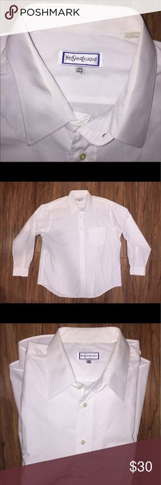 Yves Saint Laurent Men's Dress Shirt Size 17 1/2. 34-35. Like new condition. Yves Saint Laurent Shirts Dress Shirts