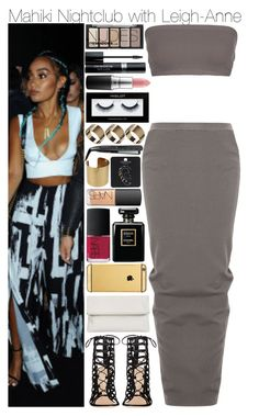Mahiki Nightclub with Leigh-Anne by swaggxdirection on Polyvore featuring polyvore, moda, style, Full Tilt, Rick Owens, Gianvito Rossi, Whistles, Farah, Topshop, Goldgenie, Inglot, H&M, MAC Cosmetics, Christian Dior, NARS Cosmetics, Chanel, Remington, fashion and clothing