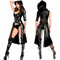 sexy laether dress | BB SEXY PVC LEATHER LOOK CATSUIT CLUBWEAR COSTUME DRESS SIZEM-L | eBay