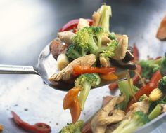 This Thai stir-fried vegetable recipe combines garlic, galangal, and lime with Asian vegetables to make a side dish or main dish when protein is added.
