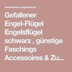 Gefallener Engel-Flügel Engelsflügel schwarz , günstige Faschings Accessoires & Zubehör bei Karneval Megastore