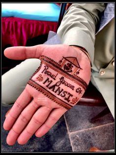 Groom's henna by Anupama Upadhya Engagement Mehndi Designs, Wedding Henna Designs, Henna Art Designs, Mehndi Designs For Beginners, Stylish Mehndi Designs, Dulhan Mehndi Designs, Mehndi Designs For Fingers, Mehndi Design Pictures, Best Mehndi Designs