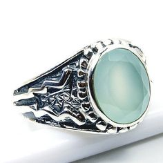 'Blue Lagoon' Sterling Silver Aqua Chalcedony Ring, Size 7.25  Price : $42.25 http://www.silverplazajewelry.com/Blue-Lagoon-Sterling-Silver-Chalcedony/dp/B00F003QZQ