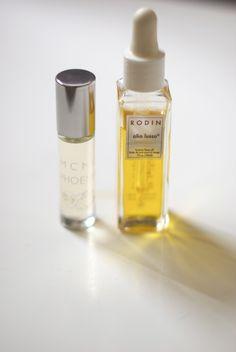 MCMC perfume oil + Rodin Olio Lusso face oil