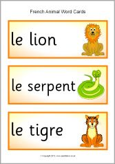French Animal Word Cards Sb1316 Sparklebox Free Teaching Resources Words