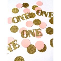Deluxe Gold and Pink Birthday confetti, confetti, glitter confetti, party decorations, 1st birthday by PartyPerfectBoutique on Etsy https://www.etsy.com/listing/225143739/deluxe-gold-and-pink-birthday-confetti