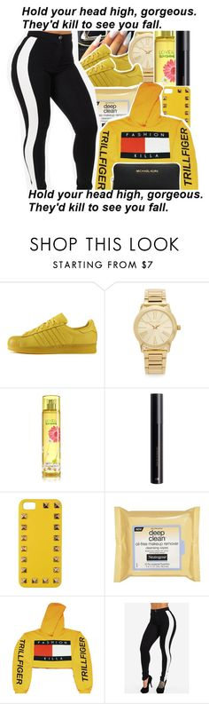 """sixty nine"" by tynescloset ❤ liked on Polyvore featuring adidas, Michael Kors, Valentino and Neutrogena"