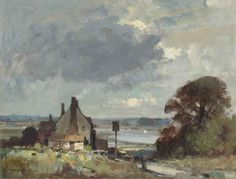 Suffolk - The Road to the River - Edward Seago - Portland Gallery