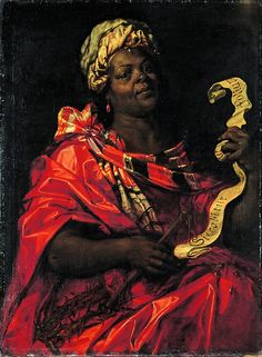 The Agrippine Sibyl (c. 1575) - painted by Abraham Janssens. Netherlands  via the great tumblr: People of Color in European Art History: